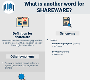shareware, synonym shareware, another word for shareware, words like shareware, thesaurus shareware