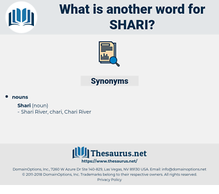 shari, synonym shari, another word for shari, words like shari, thesaurus shari