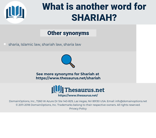 shariah, synonym shariah, another word for shariah, words like shariah, thesaurus shariah