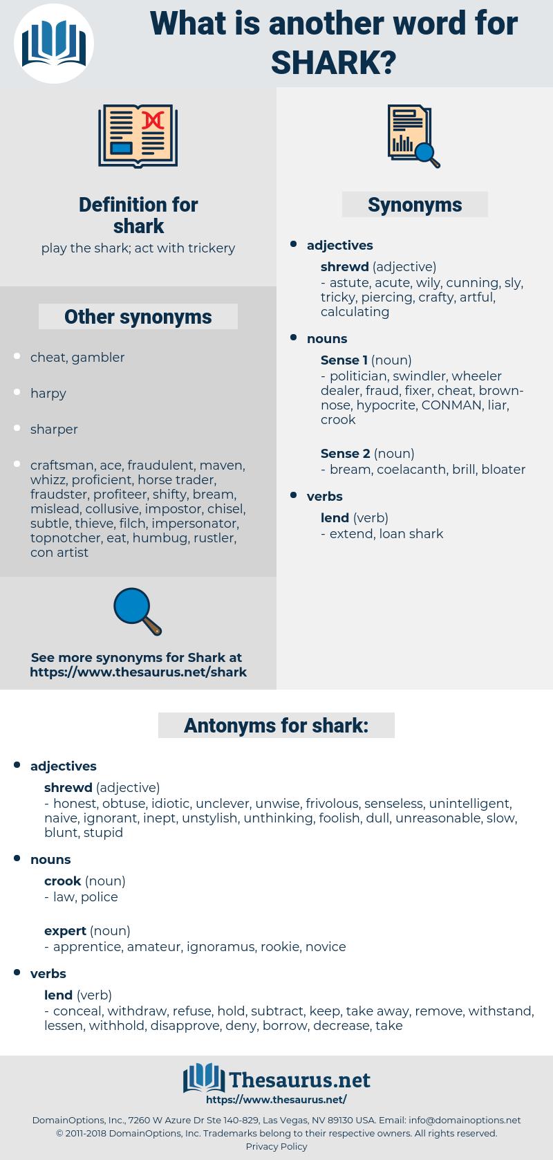 shark, synonym shark, another word for shark, words like shark, thesaurus shark