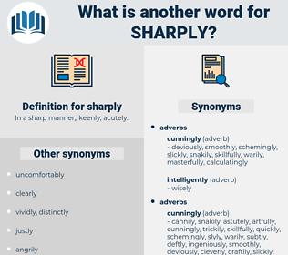 sharply, synonym sharply, another word for sharply, words like sharply, thesaurus sharply