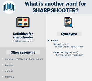 sharpshooter, synonym sharpshooter, another word for sharpshooter, words like sharpshooter, thesaurus sharpshooter