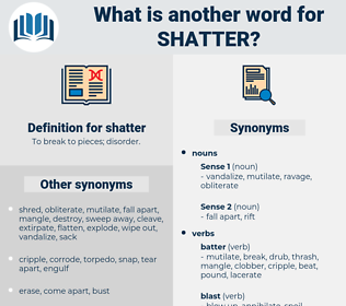 shatter, synonym shatter, another word for shatter, words like shatter, thesaurus shatter