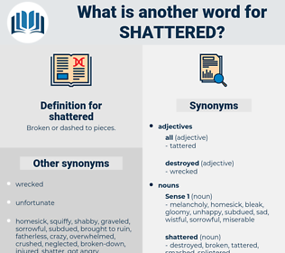 shattered, synonym shattered, another word for shattered, words like shattered, thesaurus shattered