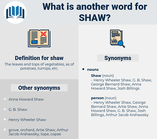 shaw, synonym shaw, another word for shaw, words like shaw, thesaurus shaw