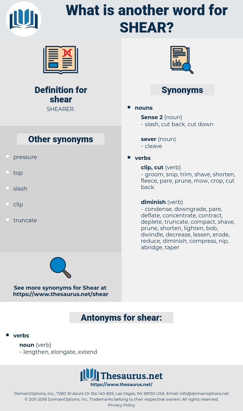 shear, synonym shear, another word for shear, words like shear, thesaurus shear