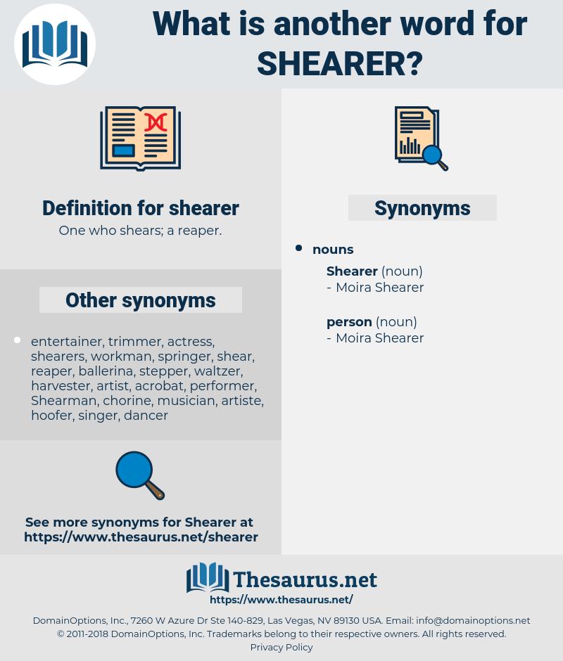 shearer, synonym shearer, another word for shearer, words like shearer, thesaurus shearer