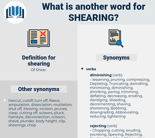 shearing, synonym shearing, another word for shearing, words like shearing, thesaurus shearing