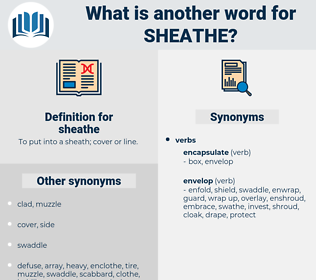 sheathe, synonym sheathe, another word for sheathe, words like sheathe, thesaurus sheathe