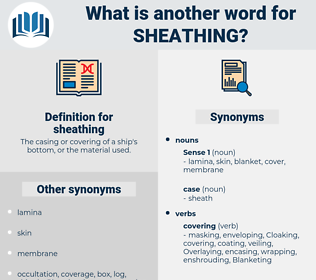 sheathing, synonym sheathing, another word for sheathing, words like sheathing, thesaurus sheathing