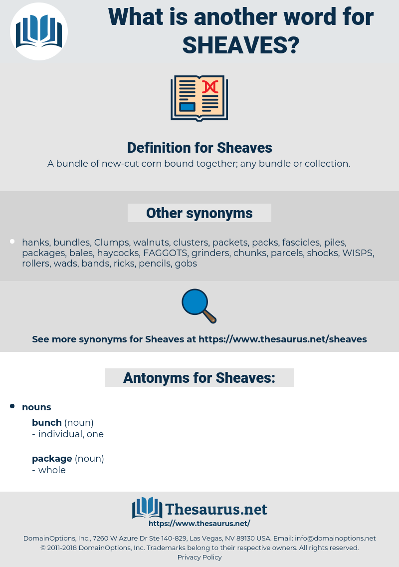 Sheaves, synonym Sheaves, another word for Sheaves, words like Sheaves, thesaurus Sheaves
