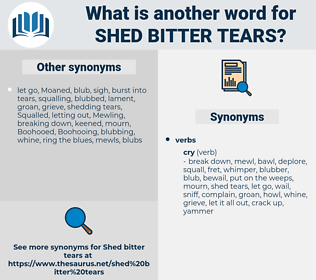 shed bitter tears, synonym shed bitter tears, another word for shed bitter tears, words like shed bitter tears, thesaurus shed bitter tears