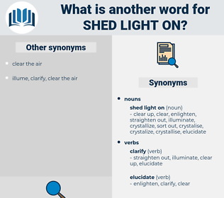 shed light on, synonym shed light on, another word for shed light on, words like shed light on, thesaurus shed light on