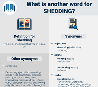 shedding, synonym shedding, another word for shedding, words like shedding, thesaurus shedding