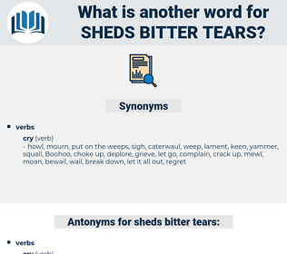 sheds bitter tears, synonym sheds bitter tears, another word for sheds bitter tears, words like sheds bitter tears, thesaurus sheds bitter tears