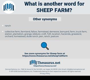 sheep farm, synonym sheep farm, another word for sheep farm, words like sheep farm, thesaurus sheep farm