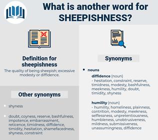 sheepishness, synonym sheepishness, another word for sheepishness, words like sheepishness, thesaurus sheepishness
