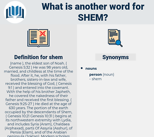 shem, synonym shem, another word for shem, words like shem, thesaurus shem