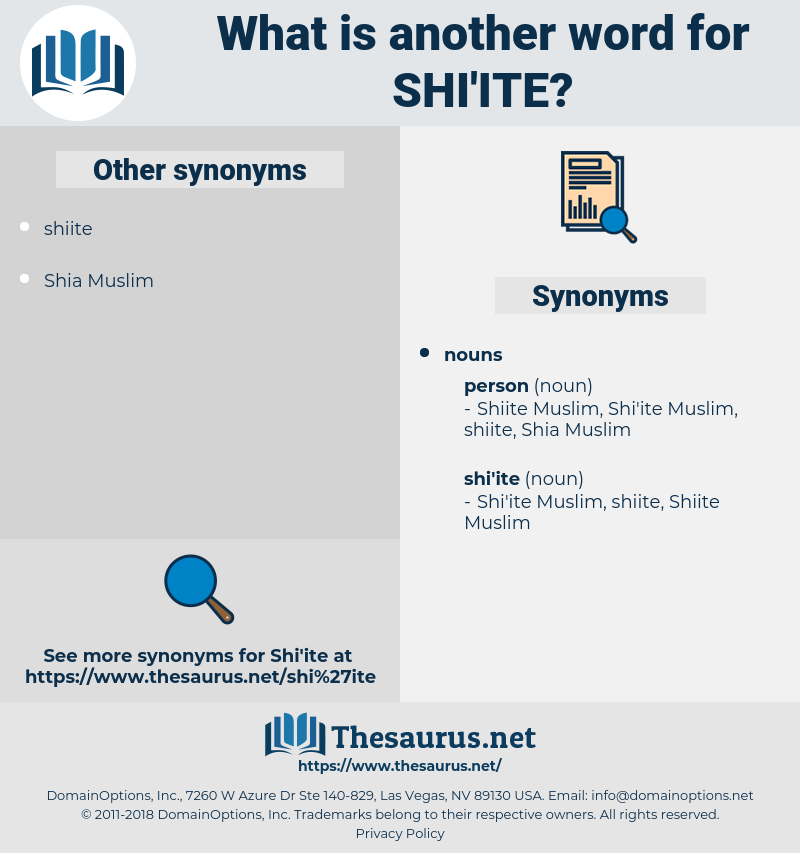shi'ite, synonym shi'ite, another word for shi'ite, words like shi'ite, thesaurus shi'ite