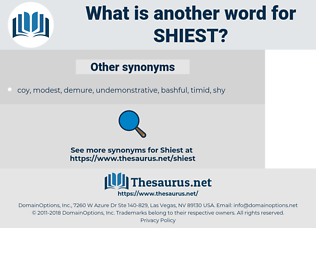 shiest, synonym shiest, another word for shiest, words like shiest, thesaurus shiest