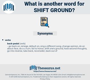 shift ground, synonym shift ground, another word for shift ground, words like shift ground, thesaurus shift ground