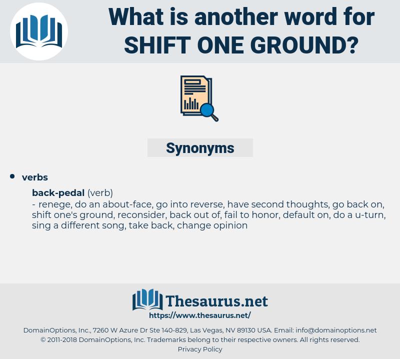 shift one ground, synonym shift one ground, another word for shift one ground, words like shift one ground, thesaurus shift one ground
