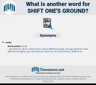 shift one's ground, synonym shift one's ground, another word for shift one's ground, words like shift one's ground, thesaurus shift one's ground