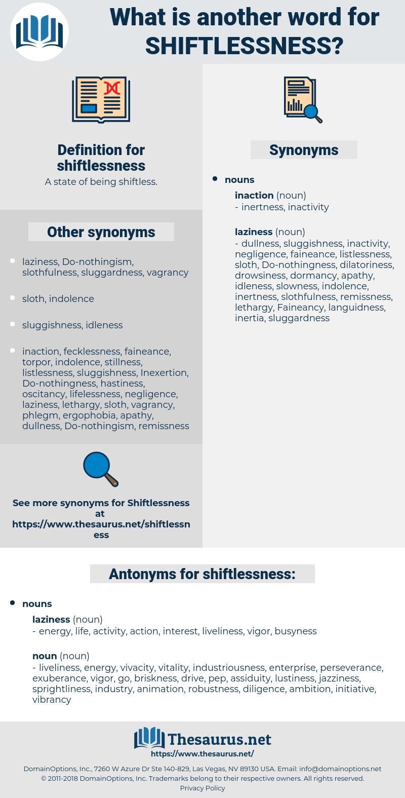 shiftlessness, synonym shiftlessness, another word for shiftlessness, words like shiftlessness, thesaurus shiftlessness