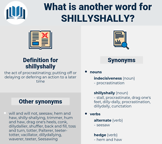 shillyshally, synonym shillyshally, another word for shillyshally, words like shillyshally, thesaurus shillyshally
