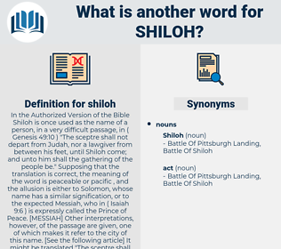 shiloh, synonym shiloh, another word for shiloh, words like shiloh, thesaurus shiloh