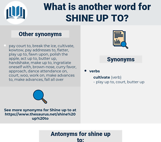 shine up to, synonym shine up to, another word for shine up to, words like shine up to, thesaurus shine up to