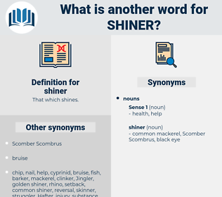 shiner, synonym shiner, another word for shiner, words like shiner, thesaurus shiner