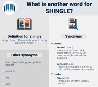 shingle, synonym shingle, another word for shingle, words like shingle, thesaurus shingle