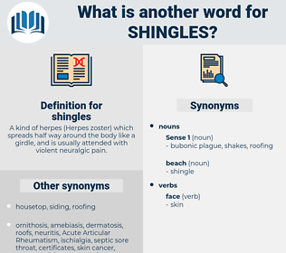 shingles, synonym shingles, another word for shingles, words like shingles, thesaurus shingles