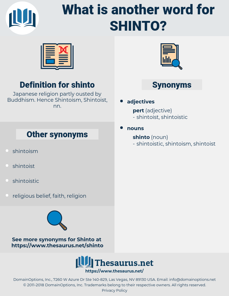 Synonyms for SHINTO - Thesaurus net