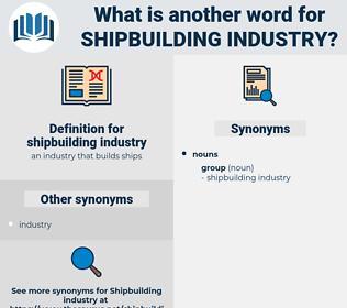 shipbuilding industry, synonym shipbuilding industry, another word for shipbuilding industry, words like shipbuilding industry, thesaurus shipbuilding industry