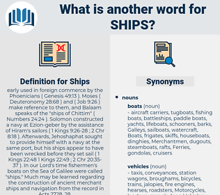 Ships, synonym Ships, another word for Ships, words like Ships, thesaurus Ships