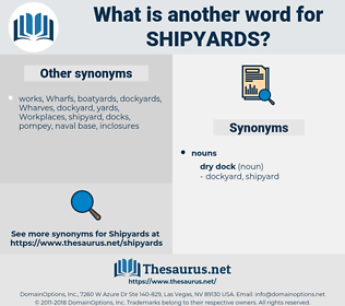 shipyards, synonym shipyards, another word for shipyards, words like shipyards, thesaurus shipyards