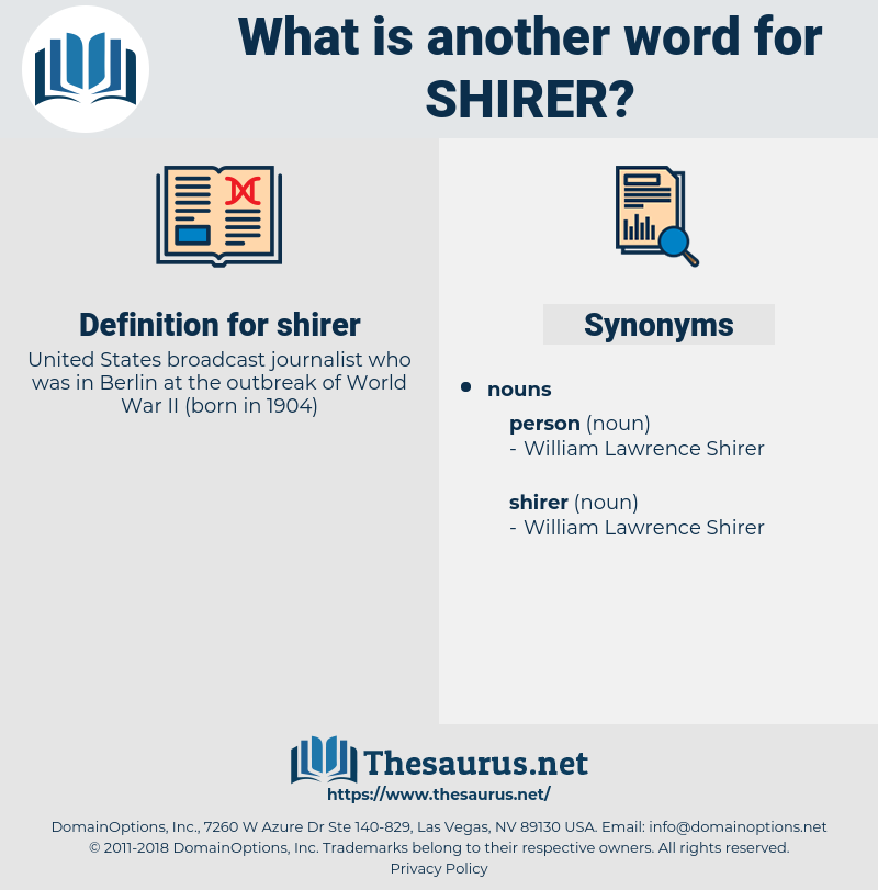 shirer, synonym shirer, another word for shirer, words like shirer, thesaurus shirer