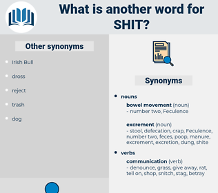 shit, synonym shit, another word for shit, words like shit, thesaurus shit