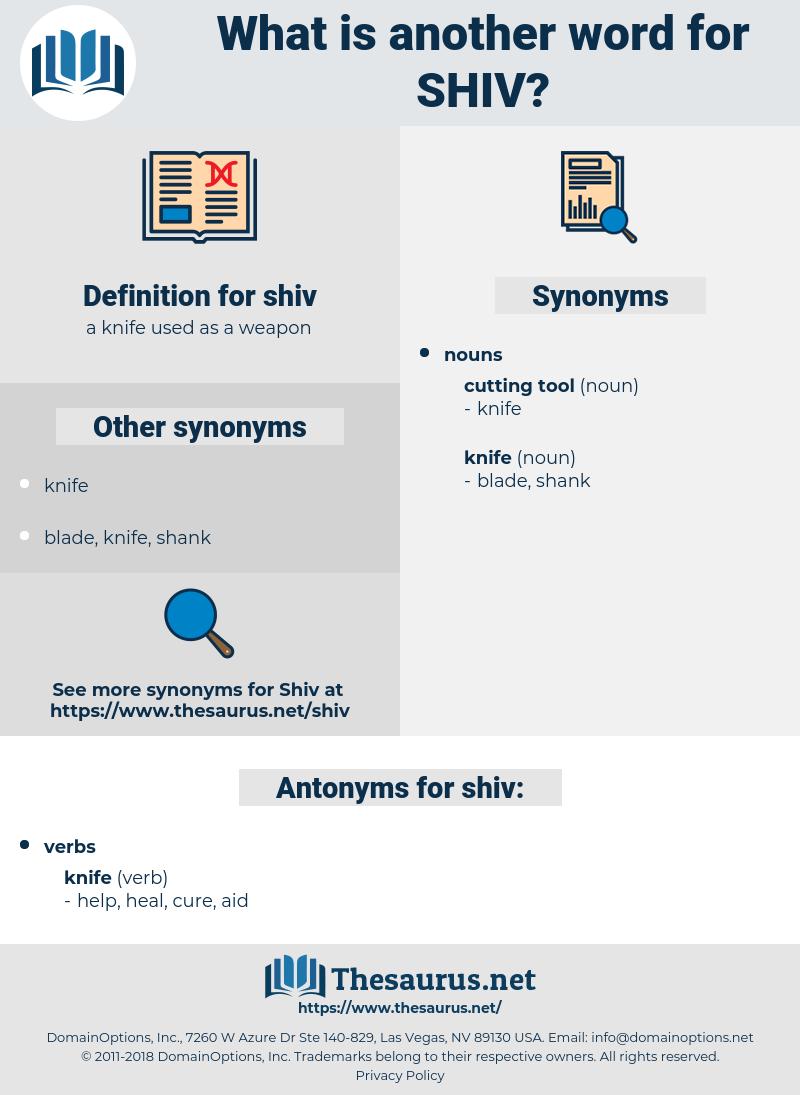 shiv, synonym shiv, another word for shiv, words like shiv, thesaurus shiv
