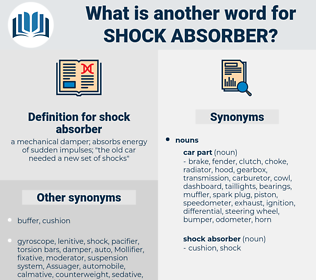 shock absorber, synonym shock absorber, another word for shock absorber, words like shock absorber, thesaurus shock absorber