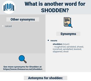 shodden, synonym shodden, another word for shodden, words like shodden, thesaurus shodden