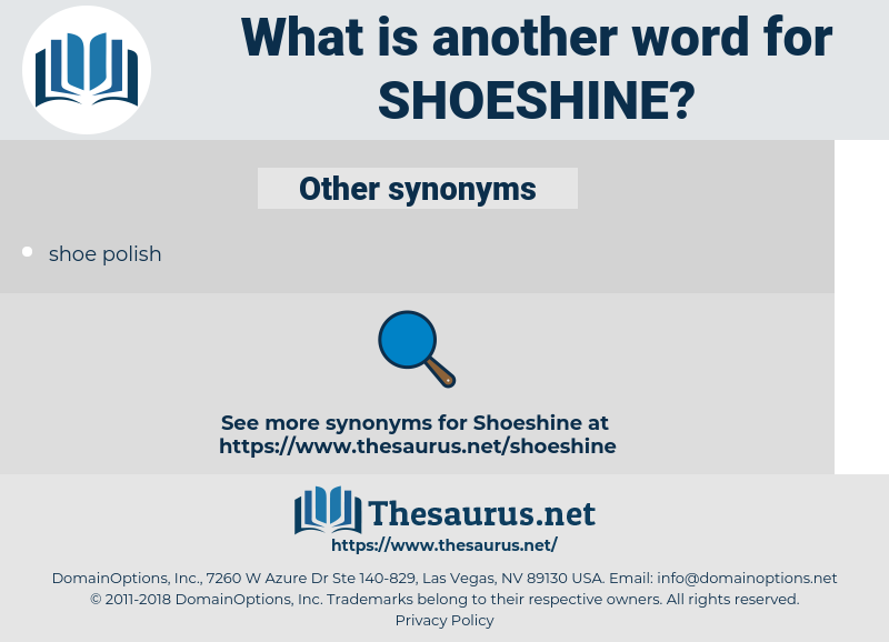 shoeshine, synonym shoeshine, another word for shoeshine, words like shoeshine, thesaurus shoeshine