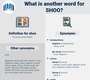 shoo, synonym shoo, another word for shoo, words like shoo, thesaurus shoo