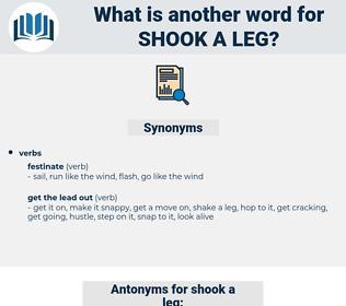 shook a leg, synonym shook a leg, another word for shook a leg, words like shook a leg, thesaurus shook a leg