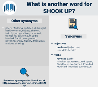 shook up, synonym shook up, another word for shook up, words like shook up, thesaurus shook up