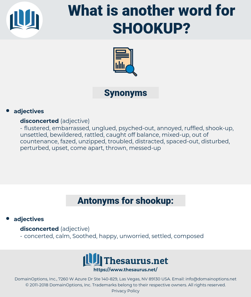 shookup, synonym shookup, another word for shookup, words like shookup, thesaurus shookup