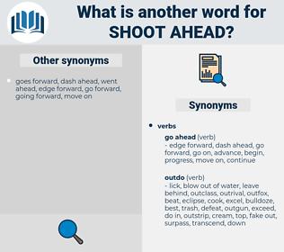 shoot ahead, synonym shoot ahead, another word for shoot ahead, words like shoot ahead, thesaurus shoot ahead