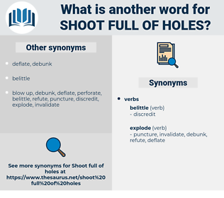 shoot full of holes, synonym shoot full of holes, another word for shoot full of holes, words like shoot full of holes, thesaurus shoot full of holes